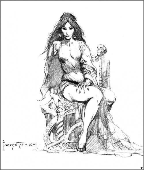 Черно белые иллюстрации Фрэнка Фразетты (89 работ)