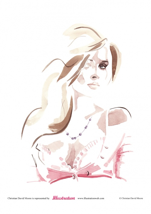 Christian David Moore - Fashion Illustration (39 работ)