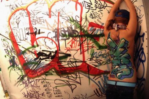 Бодиарт-граффити и граффити-графика (281 работ) (1 часть)