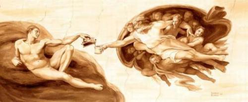 Кофейные картины от Karen Eland (21 работ)
