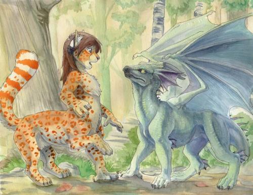 Фантастические животные американской художницы Hillary Luetkemeyer (ник hibbary) (119 работ)