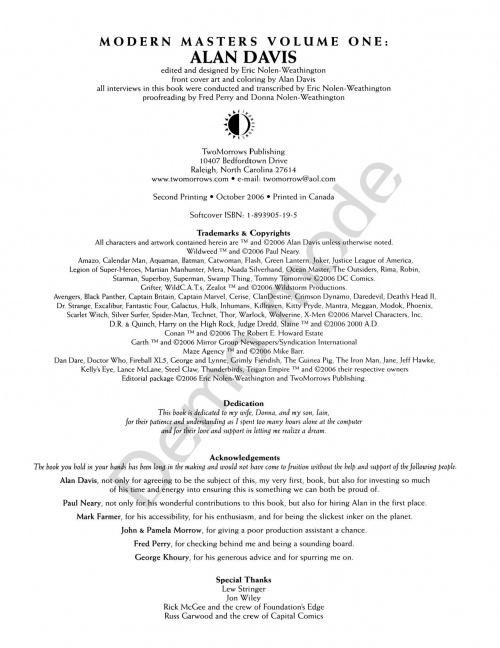 Modern Masters Volume 1: Alan Davis (131 работ)