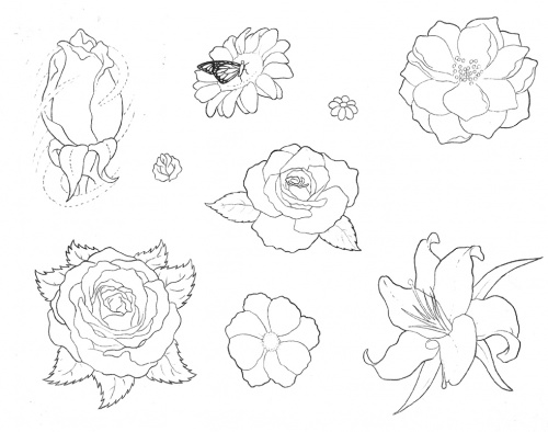 Tattoo Flash - Sheets + Lines set 15 (315 работ) (2 часть)
