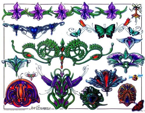 Tattoo Flash - Sheets + Lines set 15 (315 работ) (2 часть)
