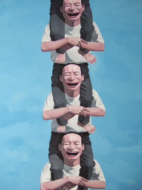 Китайские смайлики Yue Minjun (94 работ)
