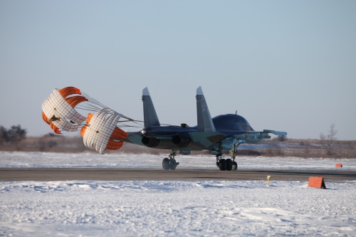 Российский фронтовой бомбардировщик Су-34 (13 фото)