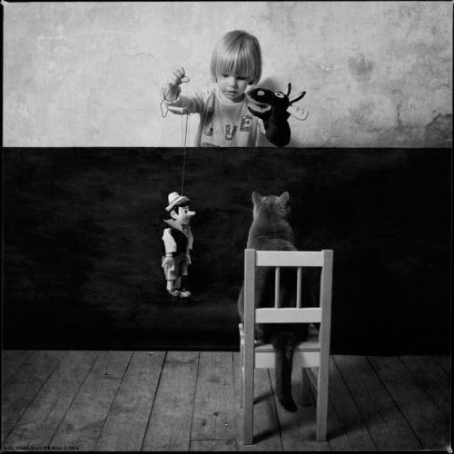 Фотосессия девочки и кота Тома, художник Andy Prokh (23 фото)