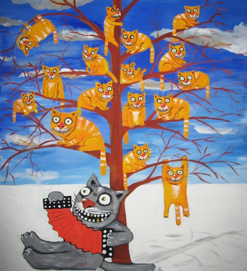 Коты Алексея Куделина (44 работ)