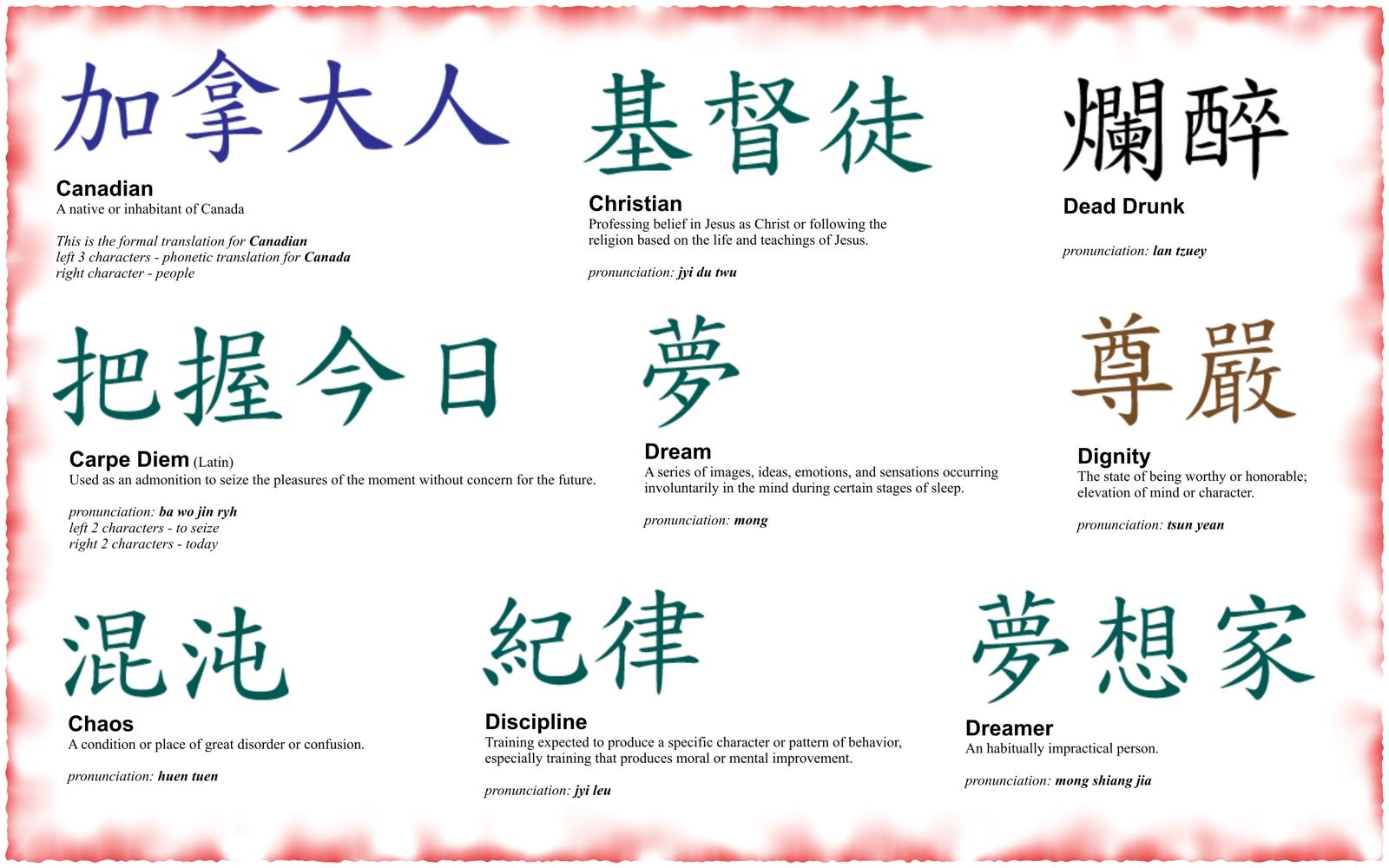 Перевод японских иероглифов тату