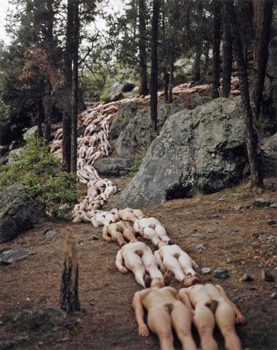 Обнаженные фоны фотографа Spencer Tunick (69 фото) (эротика)