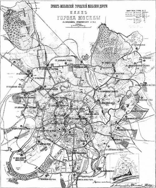Карты Москвы с 1807 по 1935 годы (16 фото)