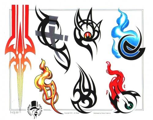 Заготовки татуировок в хорошем качестве (91 работ)