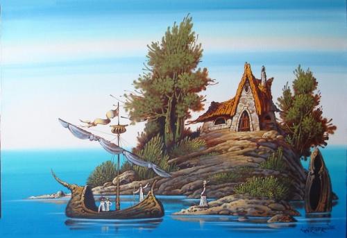 Сказочный и таинственный мир художника Константина Канского (87 работ)
