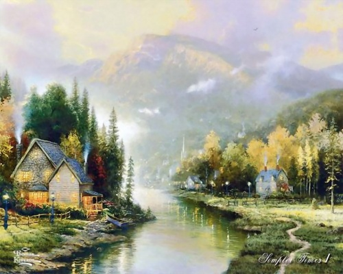 Работы художника Томаса Кинкейда (Thomas Kinkade) (68 работ)