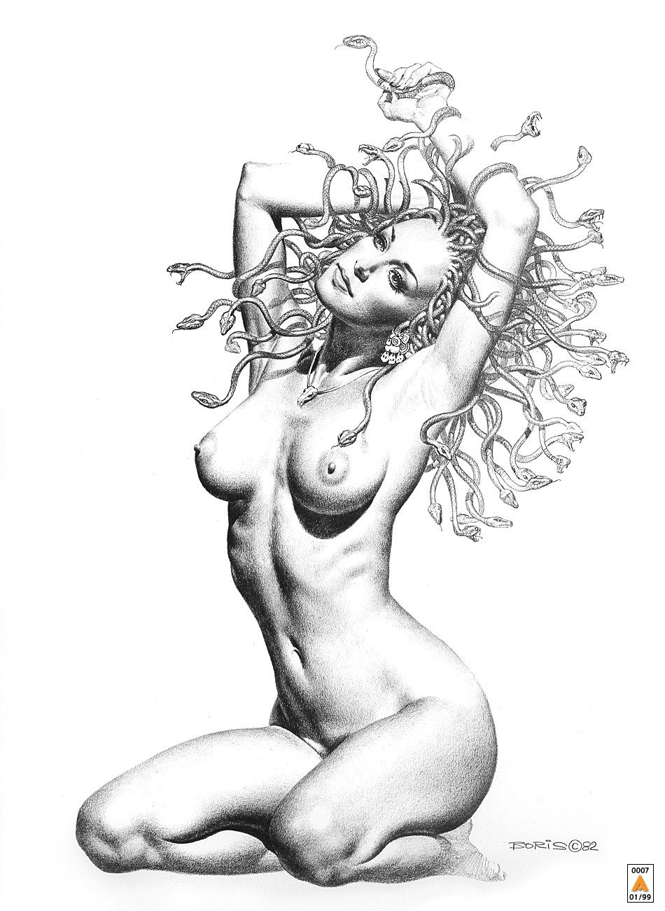 сексуальный черно белый рисунок-яа1