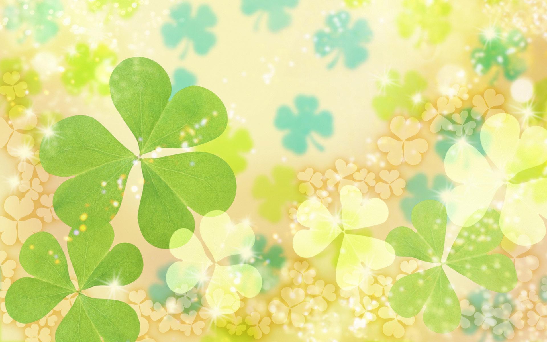 Light green leaf pattern background