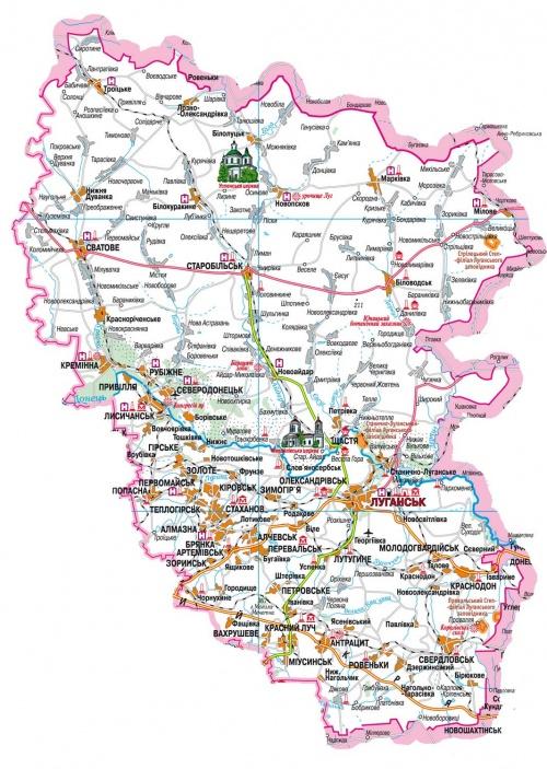 Карта Украины (37 фото)