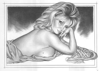 Рисованные Эротические Девушки Часть 1 (64 работ)