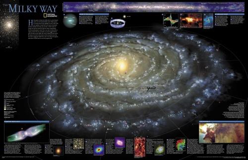 Карта нашей Галактики (1 фото)