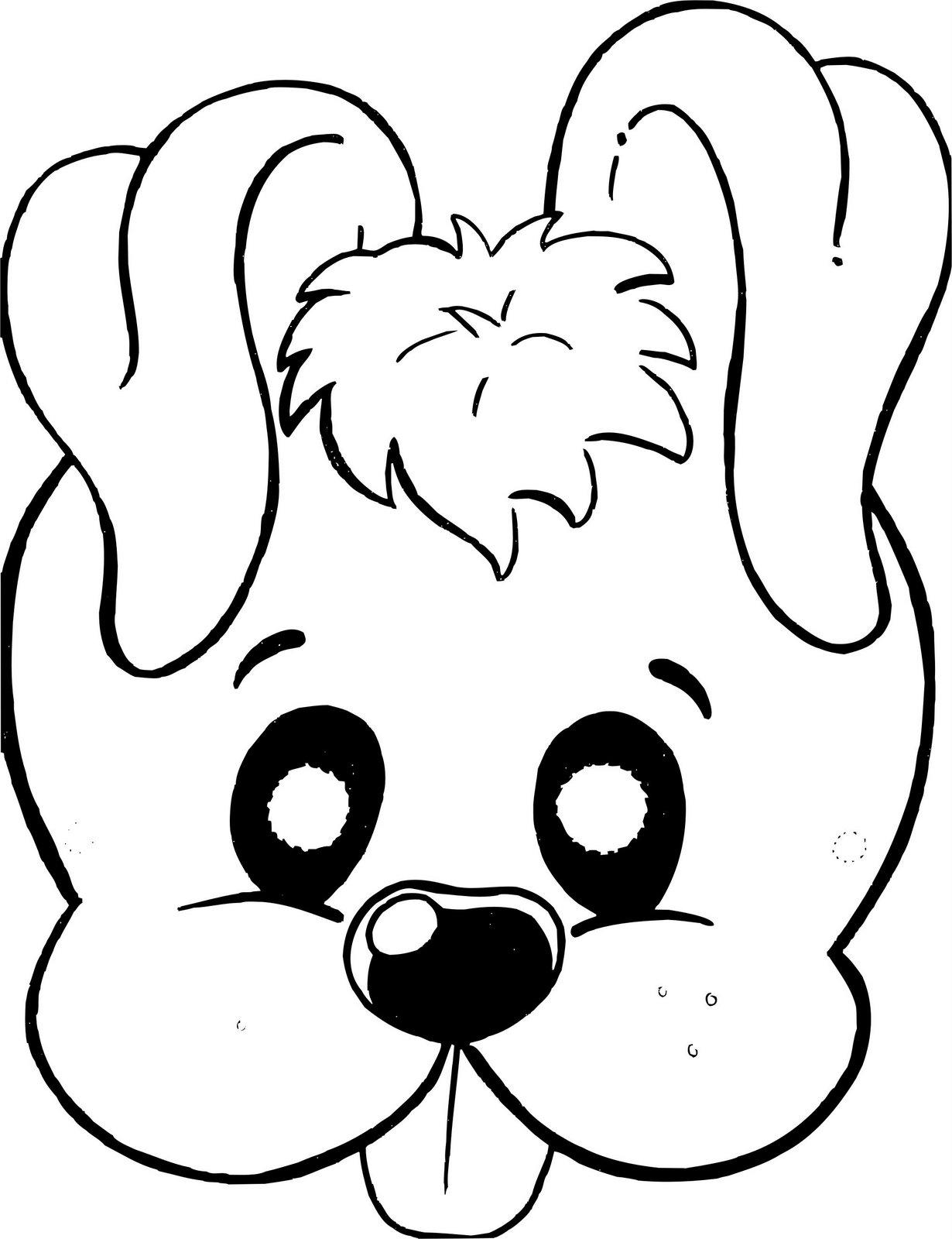 картинка маска собаки распечатать разгар