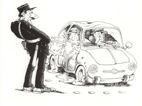 Альбом карикатур - Автомобиль и дорога (60 работ)