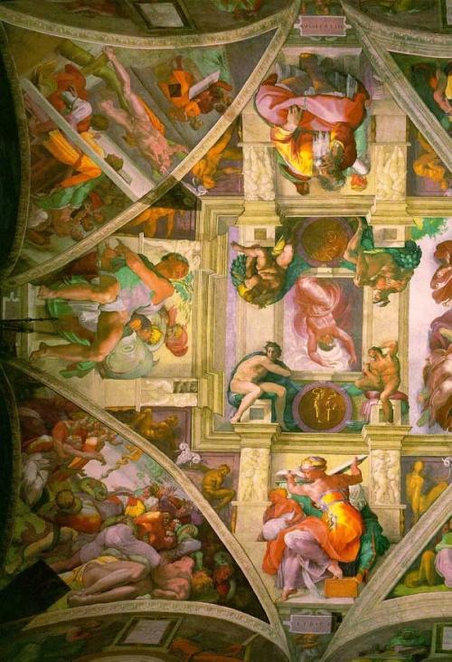 Сикстинская Капелла - 15 фресок (15 фото)