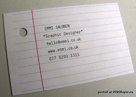 Очень креативные визитки! (50 фото)