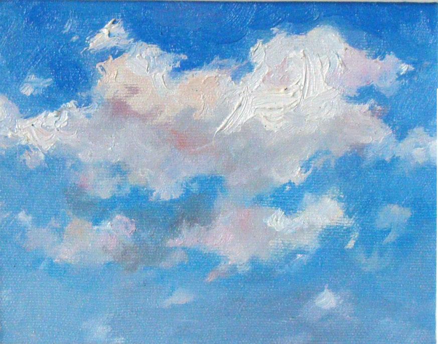 небо с облаками рисунок гуашью правило, свои