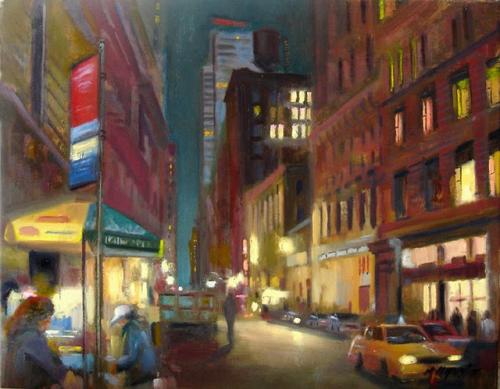 Городские пейзажи в работах художника Hall Groat (51 работ)