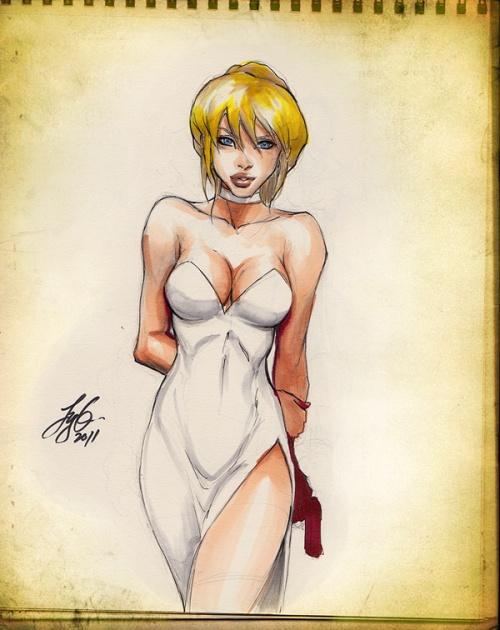 Нарисованные девушки - Siya Oum Art (104 работ)