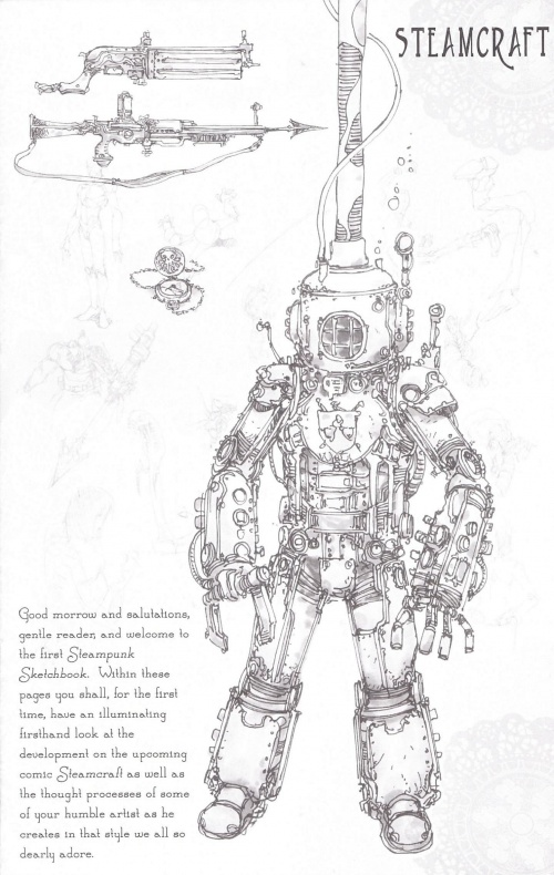 Steampunk Sketchbook Magazine №1 2012 (30 работ)
