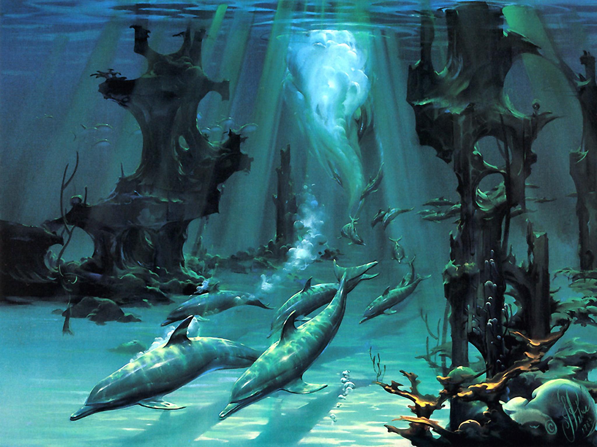 underwater paintings artwork - 1099×731
