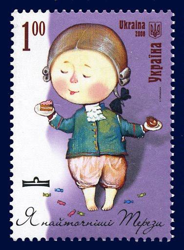 """Почтовые марки """"Знаки зодиака"""" Евгении Гапчинской (24 работ)"""