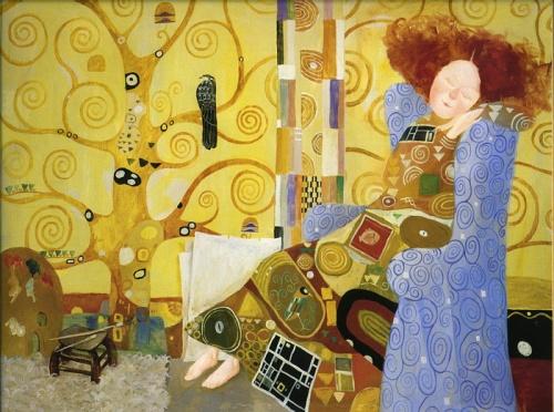 """Иллюстрации Евгении Гапчинской к книге """"Лиза и ее сны"""" (12 работ)"""