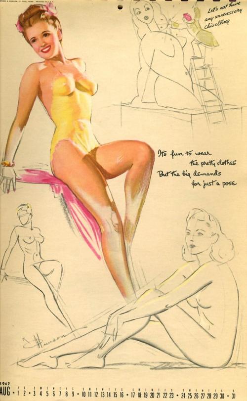 Pin-ups art from the artist Knute Munson (1900 - 1967) (28 работ)