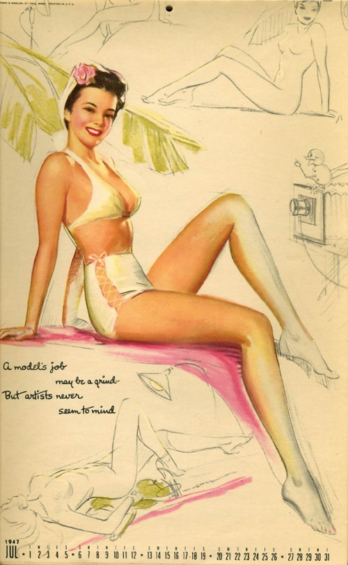 Pin-ups art from the artist Knute Munson (1900 - 1967) (28 работ)