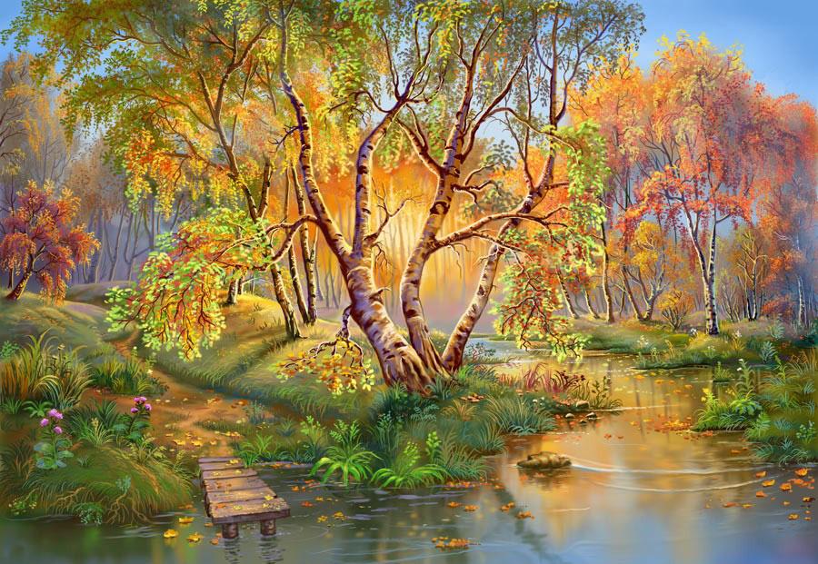 Осенний пейзаж фото скачать