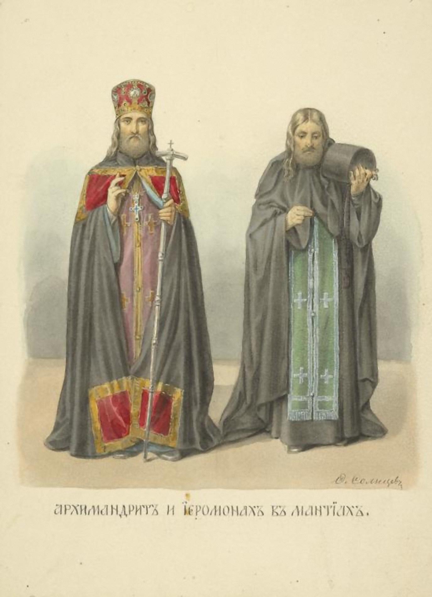 Похотливый священник одетый в синию мантию 19 фотография