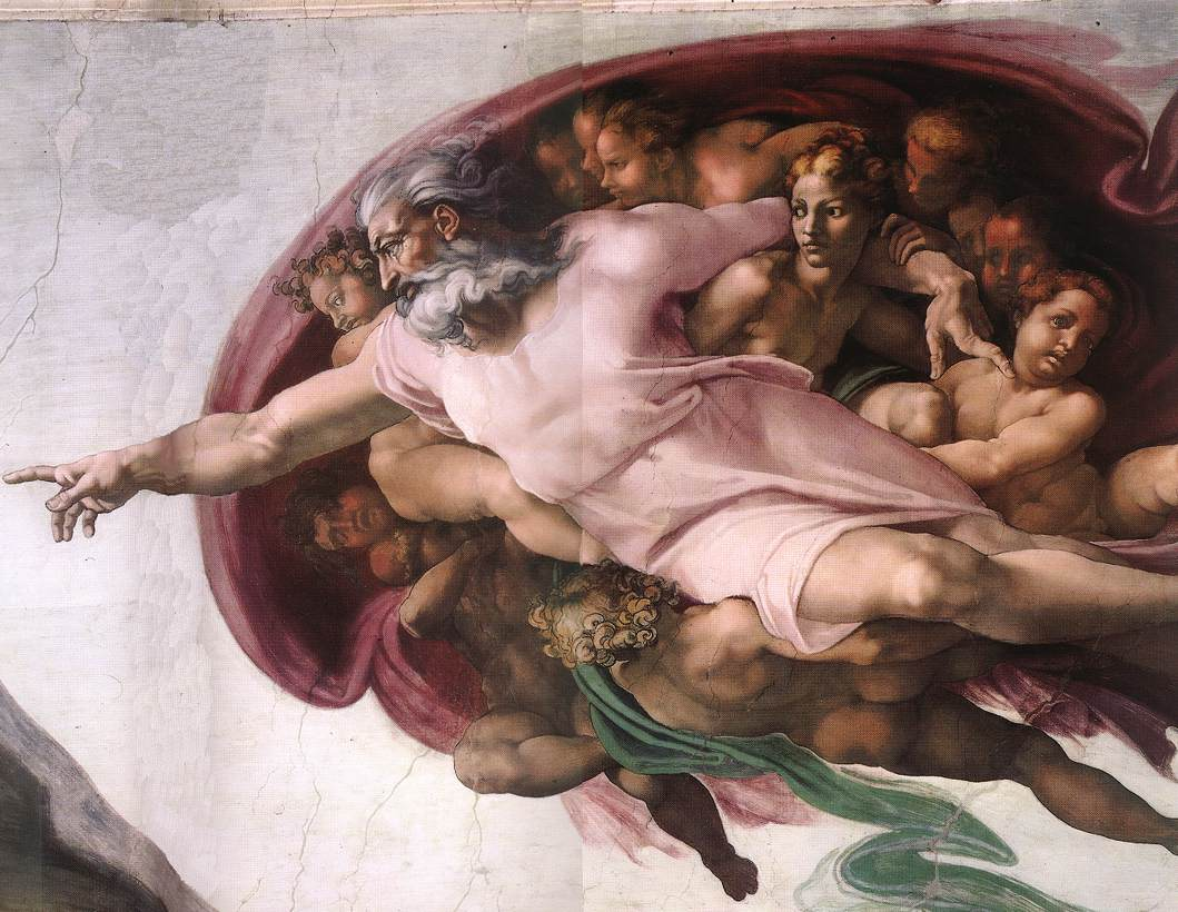a look at the life of alberti davinehi and michelangelo