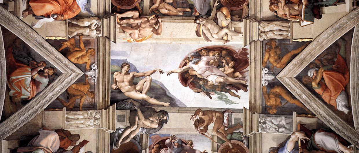 a history of michelangelos work on the sistine chapel Sistine chapel (michelangelo), sistine ceiling vatican papal ducats toward the painting of ceiling of the papal sistine chapel, on which i am beginning work.