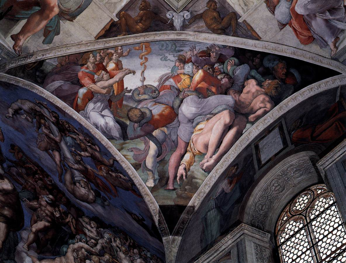 a history of the artworks of michelangelo at the sistine chapel in the vatican Among his works are the david and pieta statues and the sistine chapel history but michelangelo's crowning glory of the vatican in rome architect.
