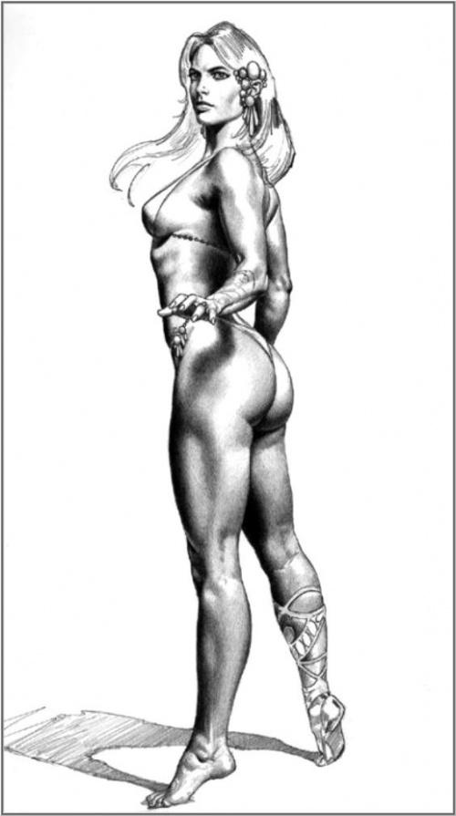 Художник Борис Вальехо (Boris Vallejo) - оператор взглядов. Black & White (87 работ)