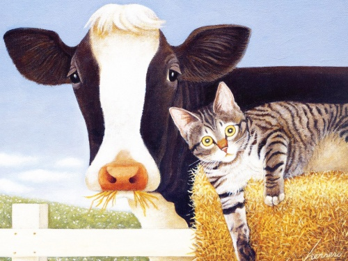 Cats & Cows by Lowell Herrero (27 работ)