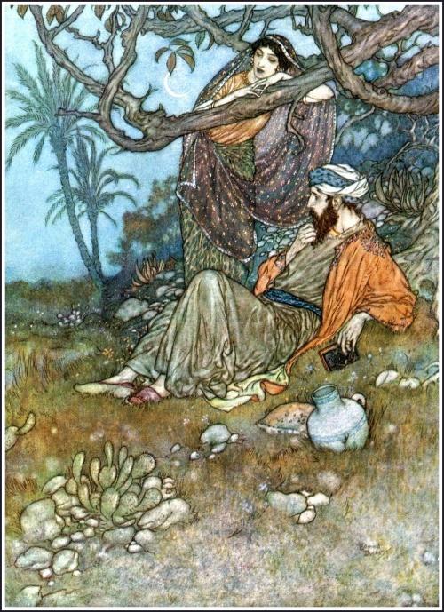 Рубайи Омара Хаяма в иллюстрациях Edmun Dulac (22 работ)