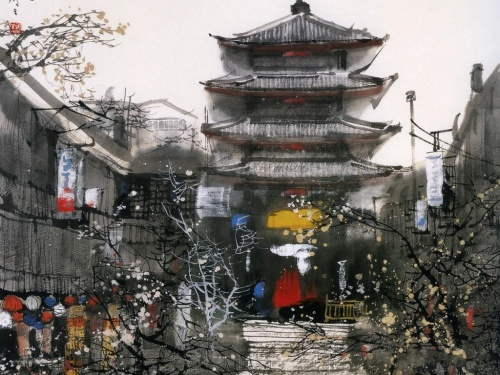 Акварели Liu Maoshan (30 работ)