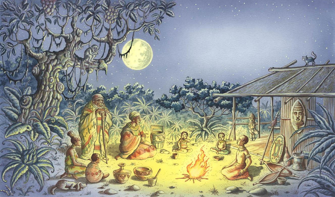 иллюстрации к африканским сказкам помощью
