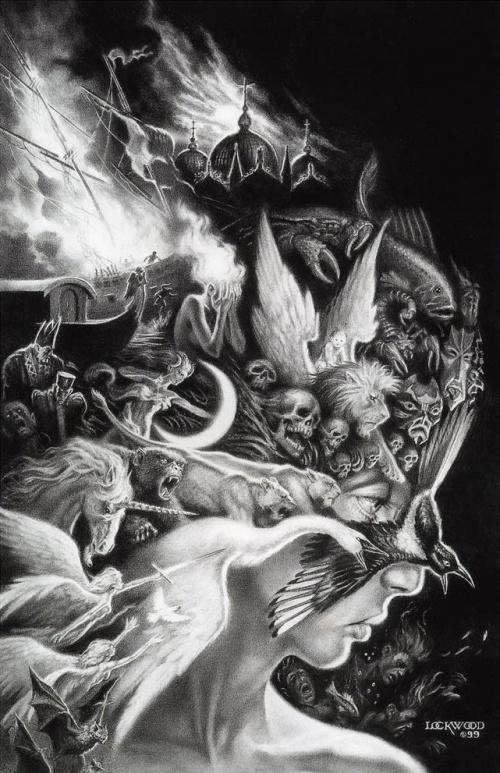 Работы фентези художника Todd Lockwood (152 работ)