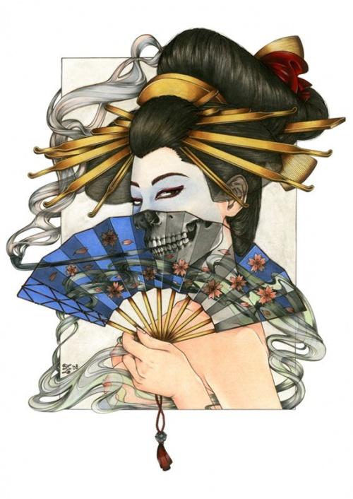 Гейши (художник Zoe Lacchei) (10 работ)