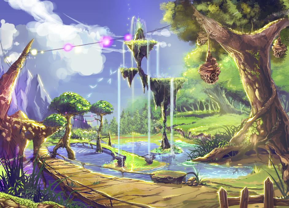 картинки фантастические миры мультяшные