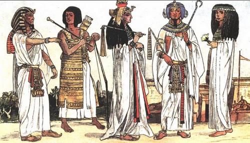 Костюмы в картинках: Древний Египет (9 работ)
